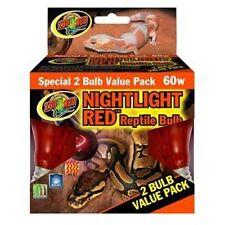 Zoo Med 2-Pack Nightlight Red Reptile Bulb 60-Watt Reptile Heat Light