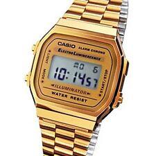 casio stainless steel wristwatches a168w a168wg 9wdf a168wg 9 casio unisex gold digital alarm watch illuminator
