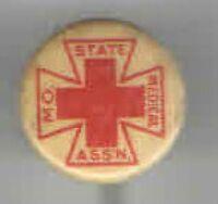 RED CROSS Early 1900s pin Missouri State MEDICAL Assn Stickpin MEDICINE