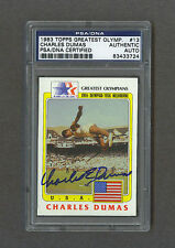 Charles Dumas signed 1983 Topps Greatest Olympians trading card Psa/Dna