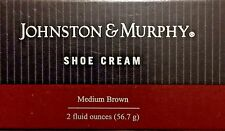 JOHNSON AND MURPHY SHOE CREAM MEDIUM BROWN WITH BUILT IN SPONGE APPLICATOR 2OZ