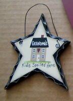 GRANDMA'S KIDS SPOILED HERE country wood grandmother ornament grandma gift sign