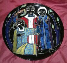 Marcello Fantoni Firenze raro piatto Sacra Famiglia ceramica maiolica italiana