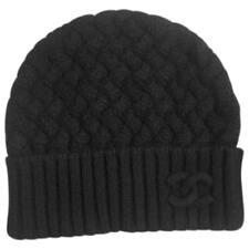 Chanel Mens Black Knit Cashmere Beanie Hat One Size BNWOT