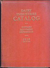 1939 Dairy Industries catalog equipment ingredients ICE CREAM SODA FOUNTAINS etc