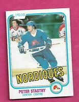 1981-82 OPC # 269 NORDIQUES PETER STASTNY ROOKIE EX+ CARD (INV# D7505)