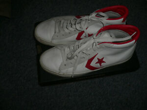 CONVERSE PRO LEATHER LEDER WEISS ROT d.G.41 UK7
