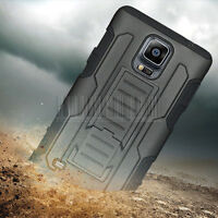 Heavy Duty Hybrid SHOCKPROOF ARMOR Case Cover For Samsung Galaxy Note 4 N910+LCD
