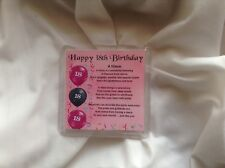 Personalised Coaster - Niece  Poem - 18th Birthday  +  FREE GIFT BOX