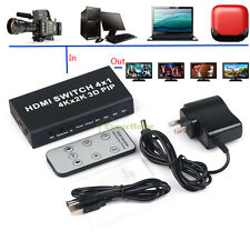 4 IN 1 Out HDMI Switches Support 3D - HDMI 1.4b 4Kx2K PIP Hub Smart Splitter Box