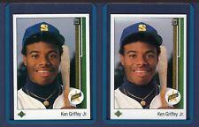 1989 UPPER DECK BASEBALL - CARD #1, KEN GRIFFEY JR. (2) ROOKIE CARDS