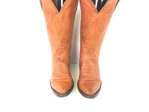 Womens Dos De Oro Vntg Leather Western Cowboy Boots 25 UK 4.5 Tan Good/VGC AC062