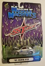 Muscle Machines SS Tuner Silver '01 Silvia S15 Die-cast Collectible 1:64 [P7]