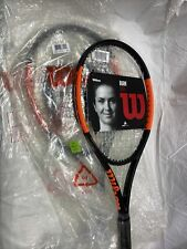 New listing Wilson Burn 100S Pre-Strung Tennis Racquets With Bag.