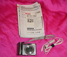 🌈 Canon Powershot A620 Digital Camera 7.1MP 4X Zoom Data Cable W/ Manual TESTED