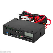 5.25'' USB3.0 LCD Display All-in-1 Media Dashboard Front Panel Card Reader ESATA