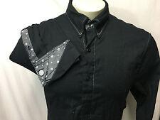 SCOTT WEILAND English Laundry Mens XXL long Sleeve Black Button Front Shirt