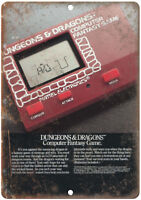 "Dungeons & Dragons Mattel Electronics Game 10"" X 7"" Reproduction Metal Sign G48"