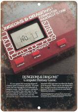 "Dungeons & Dragons Mattel Electronics Game 10"" X 7"" Reproduction Metal Sign G48"