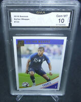 2018 Panini Donruss Soccer Kylian Mbappe Card #132 GMA Graded Gem Mint 10 FRANCE