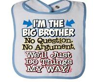I'm The Big Brother No Questions RABBIT SKINS BIB