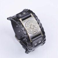 Thor Hammer Leather Bracelets Norse 24 Runes Celtic Knot Viking Slavic Symbol