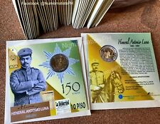 Commemorative Coin 10 Piso Heneral Antonio Luna Blister Pack 150th Years UNC