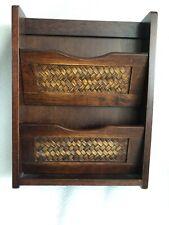 Wooden Wall Mounted Letter Rack/Holder Storage Key Holder Cabinet Magnetic