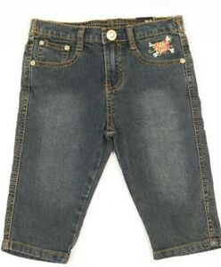 Brooklyn Girl Girls Blue Denim Embroidered Jeans Size 5 NEW