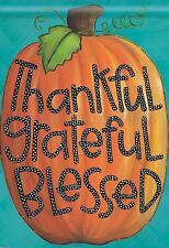 28'' x 40'' Grateful Fall Garden Flag Autumn Thanksgiving Inspirational Pumpkin