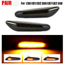 For E90-E92 E81-E84 E60 E61 E88 X1 X3 LED Smoked Turn Signal Side Marker Lights