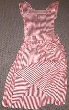 Vintage Snowhite Milwaukee Candy Striper Costume Apron 1960s Euc Snap Closure!