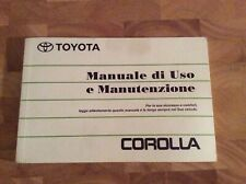 Toyota COROLLA Manuale Istruzioni Manuale Uso E Manutezione Ed.09/98