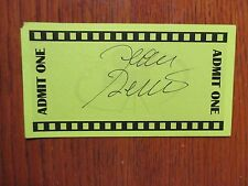 """JEAN  RENO (""""The Pink Panther/The Da Vinci Code"""") Signed Green  3"""" x 5 1/2"""" Card"""