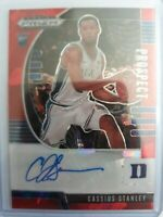 2020 Panini Prizm Draft Cassius Stanley Rookie RC AUTO Red Cracked Ice SP Pacers