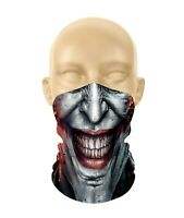 """Joker Face"" Multi-Use Face & Neck Bandana ** FREE SHIPPING by Canada Post Lette"
