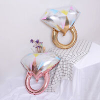 Gold diamond ring foil balloons inflatable wedding balloon event party suppli JR