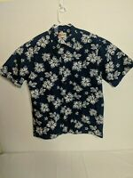 Hilo Hattie Hawaiian Casual Shirt Mens XL Made in Hawaii 100% Cotton floral.
