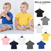 Bella + Canvas Baby Jersey Short Sleeve Tee 3001B-Retail Fit Kids Cotton T-shirt