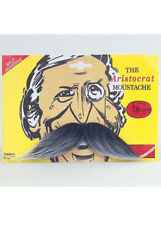 Victorian Man Grey Fake Moustache