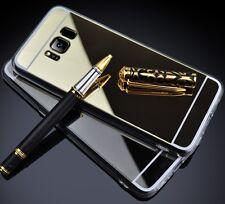 miroir étui pour portable SAMSUNG GALAXY S8 G950, gel housse couleur doré