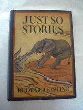 Vintage Antique Rudyard Kipling Just So Stories 1912 Color Illustrated No Jacket