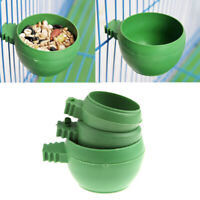 Mini Parrot Food Water Bowl Feeder Plastic Birds Pigeons Cage Sand Cup Feed JR
