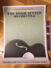 The Brian Setzer Orchestra 25th Anniversary Concert Poster Hollywood Bowl