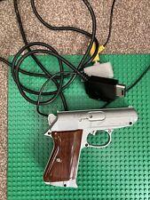 PLAYSTATION 1 PS1 PSOne LIGHT GUN PISTOL Silver/wood Controller LIGHTBlaster