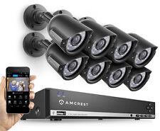 Amcrest 960H 16CH 1TB DVR Security Camera System 800TVL+ 8 x Bullet Refurbished