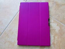 FYY Microsoft Surface PRO 3 Tablet Folio Book Cover Case Magnetic On/Off Purple