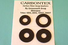 """CARBONTEX"" SHIMANO TRITON 100G, 200G, 100GT, 200GT UPGRADE  DRAG WASHER SET"
