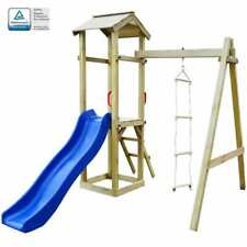 vidaXL Speelhuis Glijbaan en Ladders Hout Speeltoestel Speel Toestel Tuin