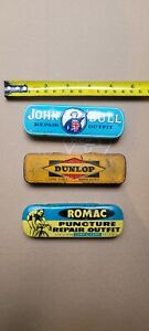3 X vintage puncture repair tin